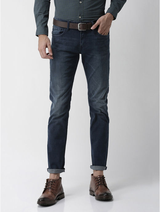 Soft Touch-Slim Fit Dark Blue Jeans