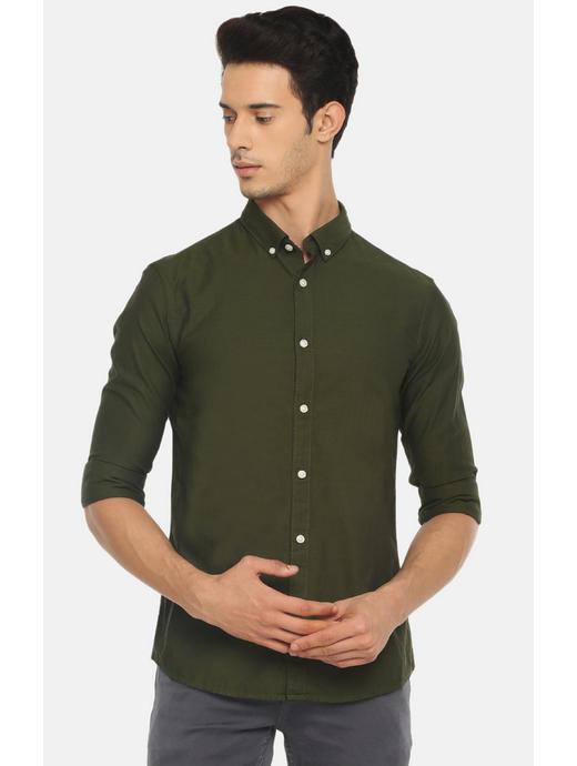 100% Cotton Dark Green Shirt