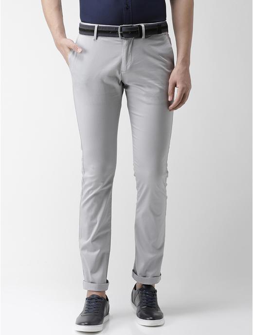Light Grey Slim Fit Chinos