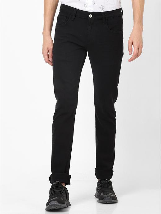 Black Slim Fit Colored Denim