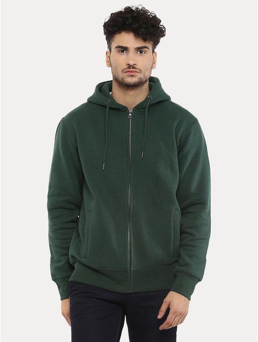 Green Melange Hoodie