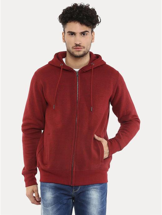 Red Melange Hoodie