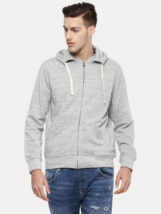 Grey Melange Hoodie
