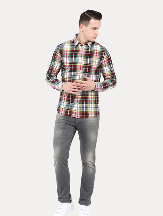 Multicoloured Checked Casual Shirt