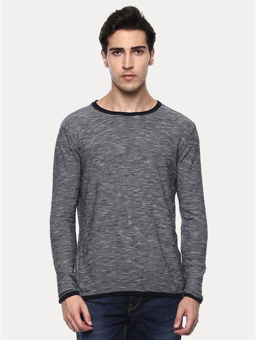 Genialr Black Melange T-Shirt