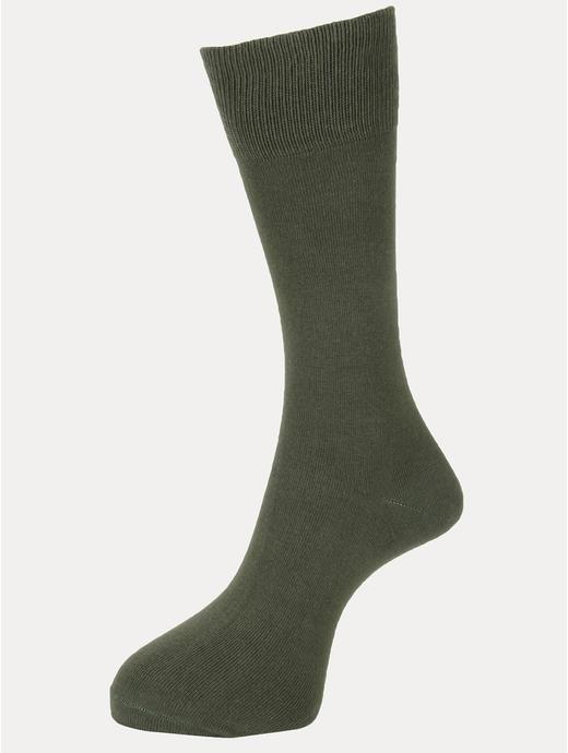 Olive Solid Socks