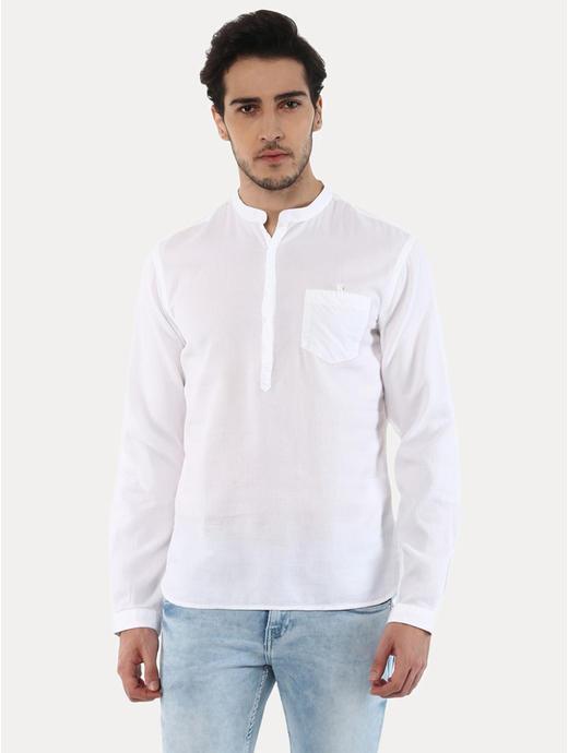 100% Cotton Waffle Textured Shirt