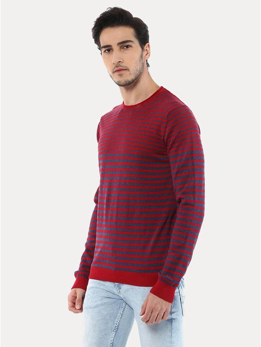 Geyacht Red Striped Sweater