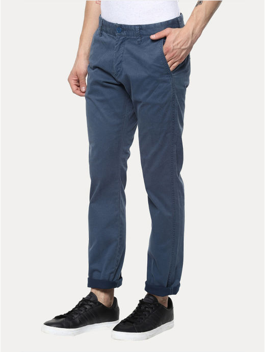 Blue Straight Chinos