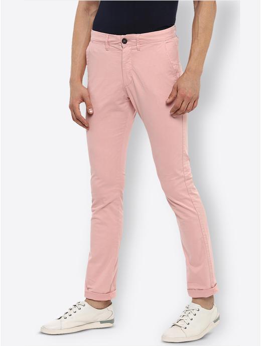 Pink Slim Fit Chinos