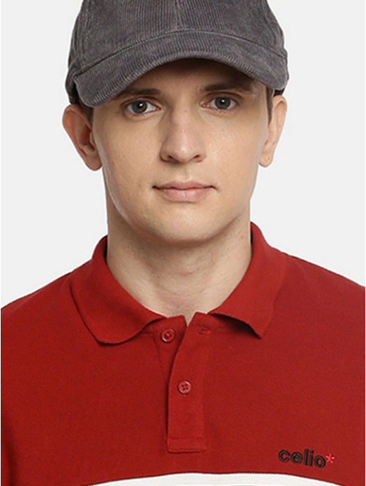 Grey Solid Baseball Cap