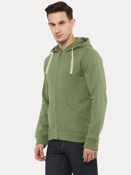 Fepig Green Solid Hoodie