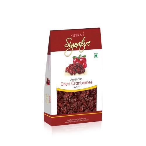 Nutraj Signature - Sweet & Tart Sliced Cranberries 100G- Vacuum Pack